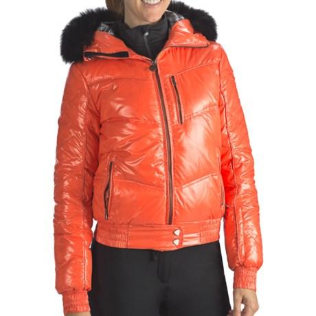 Rossignol Liz Down Shiny Jacket - 550 Fill Power (For Women) in Garance