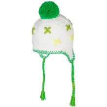 Rossignol Lolly Beanie Hat - Ear Flaps, Fully Lined (For Girls) in White - Closeouts