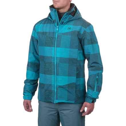 Rossignol Matrix Ski Jacket - Waterproof, Insulated (For Men) in Tartan Blue - Closeouts