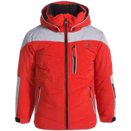 Rossignol Polydown Ski Jacket - Insulated (For Big Boys) in Crimson - Closeouts
