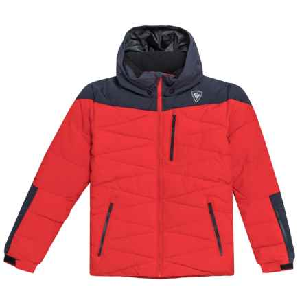 Rossignol Polydown Ski Jacket - Waterproof, Insulated (For Boys) in Crimson - Closeouts