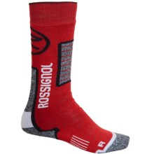 Rossignol Premium Wool Socks - Over-the-Calf (For Kids) in Red - Closeouts