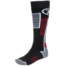 Rossignol Premium Wool Socks - Over-the-Calf (For Men) in Black - Closeouts