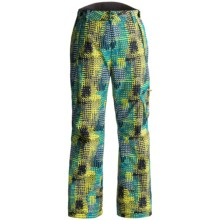 Rossignol Print Cargo Ski Pants - Waterproof, Insulated (For Boys) in Grid Cyan - Closeouts