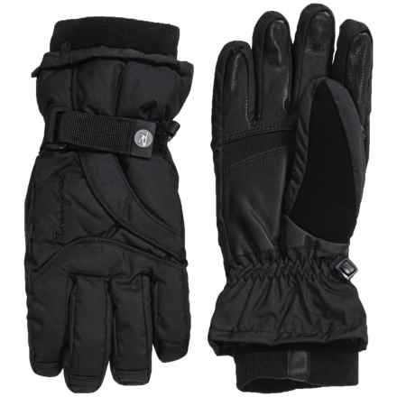 Rossignol Round Two PrimaLoft® Ski Gloves - Waterproof, Insulated (For Women) in Black - Closeouts