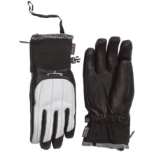Rossignol Snow Leather Gloves - Waterproof, Insulated (For Women) in Black - Closeouts