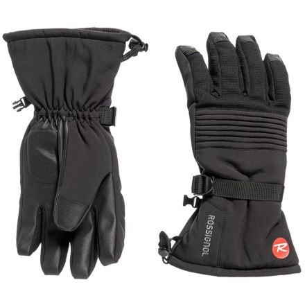 e3a60e15 Rossignol Soft Shell Heat Transfer Gloves - Insulated (For Men) in Black -  Closeouts
