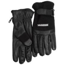 Rossignol Stretch Spring Gloves - Insulated (For Men) in Black/Black - Closeouts