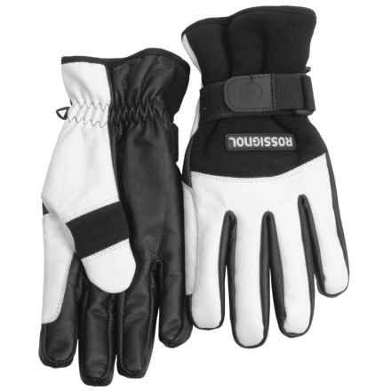 Rossignol Stretch Spring Gloves - Insulated (For Men) in Black/White - Closeouts