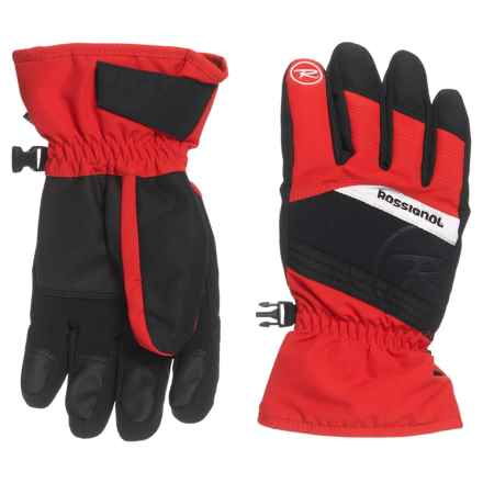 Rossignol Tech Imp'R Gloves - Waterproof, Insulated (For Big Boys) in Crimson - Closeouts