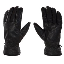Rossignol Tracker Thinsulate® Leather Gloves - Insulated (For Men) in Black - Closeouts