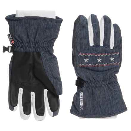 Rossignol Viky Imp'R Gloves - Waterproof, Insulated (For Big Girls) in Denim - Closeouts