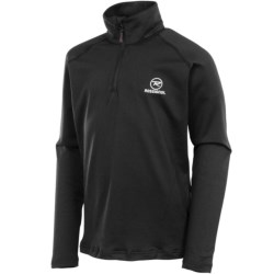 Rossignol Warm Stretch Pullover - Zip Neck, Long Sleeve (For Boys) in Black