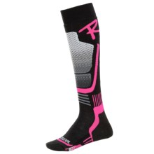 Rossignol Wool and Silk Socks - Over-the-Calf (For Women) in Fluo Pink - Closeouts