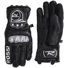 Rossignol World Cup Hero Thinsulate® Leather UMPR Gloves - Waterproof, Insulated (For Men) in Black - Closeouts