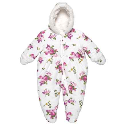 Rothschild Vanilla Rose Floral Snowsuit (For Infant Girls) in Vanilla Rose - Closeouts