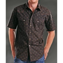 Rough Stock Antique Print Western Shirt - Snap Front, Short Sleeve (For Men) in Black - Closeouts