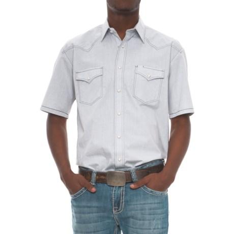 Rough Stock Bay Street Western Shirt - Short Sleeve (For Men) in White