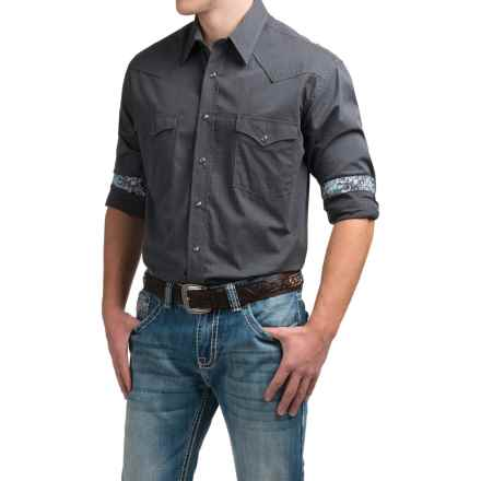 Rough Stock by Panhandle Catalina Vintage Western Shirt - Snap Front, Long Sleeve (For Men) in Grey - Closeouts