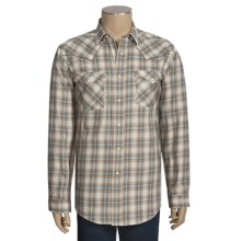 Rough Stock by Panhandle Slim Cotton Ombre Twill Plaid Shirt - Long Sleeve (For Men) in Tan - Closeouts