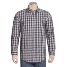 Rough Stock by Panhandle Slim Lurex® Ombre Plaid Shirt - Long Sleeve (For Men) in Grey Plaid - Closeouts