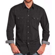 Rough Stock by Panhandle Snyder Vintage Print Western Shirt - Snap Front, Long Sleeve (For Men) in Black - Closeouts