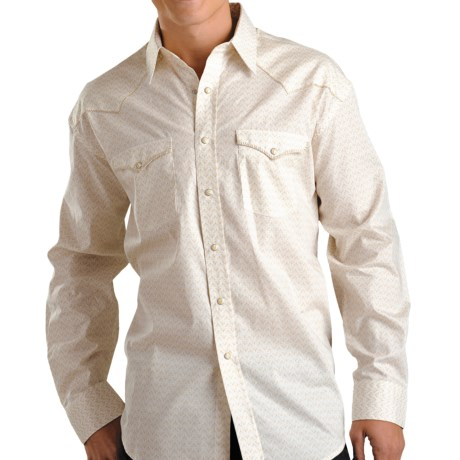 Rough Stock Del Norte Vintage Shirt - Long Sleeve (For Men) in Tan