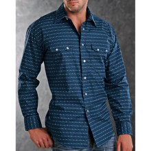 Rough Stock Duomo Western Shirt - Snap Front, Long Sleeve (For Men) in Navy - Closeouts