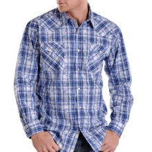 Rough Stock Ombre Plaid Shirt - Long Sleeve (For Men) in Blue - Closeouts