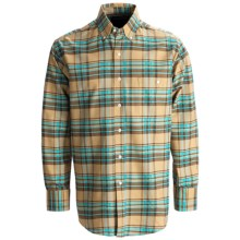 Rough Stock Oxford Plaid Shirt - Button Front, Long Sleeve (For Men) in 25 Camel - Closeouts