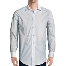 Rough Stock Providence Stripe Shirt - Long Sleeve (For Men) in White - Closeouts