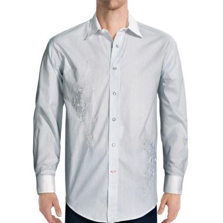 Rough Stock Providence Stripe Shirt - Long Sleeve (For Men) in White