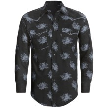 Rough Stock Reggio Vintage Shirt - Long Sleeve (For Men) in Black - Closeouts