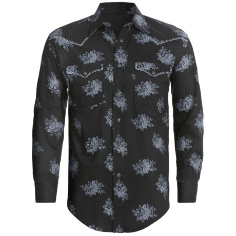 Rough Stock Reggio Vintage Shirt - Long Sleeve (For Men) in Black