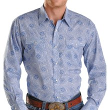 Rough Stock Sienna Vintage Print Western Shirt - Snap Front, Long Sleeve (For Men) in Blue - Closeouts