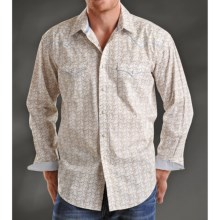 Rough Stock St. Lazare Antique Print Western Shirt - Snap Front, Long Sleeve (For Men) in Tan - Closeouts