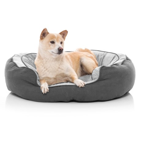 Round N? Plush Bolster Pet Bed -