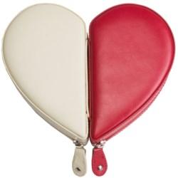 Rowallan Juliette Heart Jewelry Box - Leather in Red/Winter White