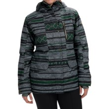 Roxy Andie Snowboard Jacket - Waterproof, Insulated (For Women) in Stripe Jacquard - Closeouts