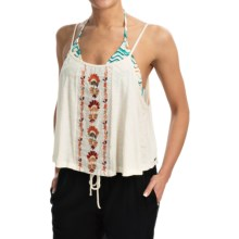 Roxy Avalon Sunset Crop Top Shirt - Sleeveless (For Women) in Egret - Closeouts