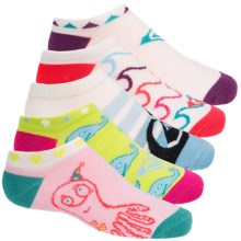 Roxy Basic No-Show Socks - 5-Pack, Below the Ankle (For Little and Big Girls) in Blue Sea Creatures - Closeouts