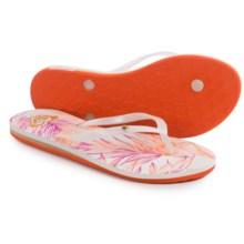Roxy Bermuda Flip-Flops (For Women) in Orange/White - Closeouts