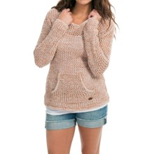 Roxy Cabrillo Hooded Sweater (For Women) in Leather Brown - Closeouts