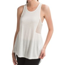 Roxy Capitola Tank Top - Mesh Racerback (For Women) in Egret - Closeouts