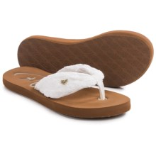 Roxy Caribe Sandals (For Little and Big Girls) in White - Closeouts