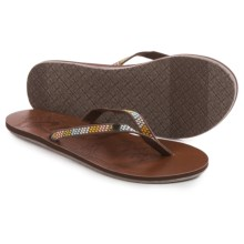 Roxy Chia II Flip-Flops (For Women) in Chocolate Brown - Closeouts
