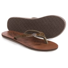 Roxy Chia II Flip-Flops (For Women) in Chocolate Crackle - Closeouts