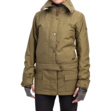 Roxy Delorean Ski Jacket - Waterproof, Insulated (For Women) in Burnt Olive - Closeouts