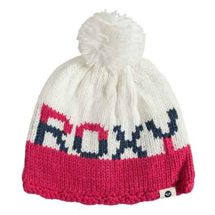 Roxy Fjord Pompom Beanie - Fleece Lined (For Women) in Azalea - Closeouts