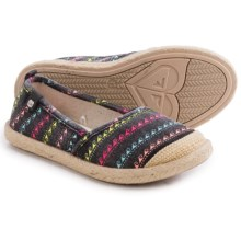 Roxy Flamenco Shoes - Slip-Ons (For Little and Big Girls) in Black Print - Closeouts